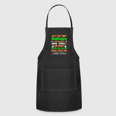 This Halloween Being Tired Moody Gamma Candy - Adjustable Apron