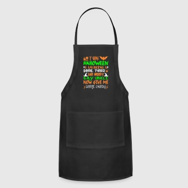 This Halloween Being Tired Moody Gay Uncle Candy - Adjustable Apron