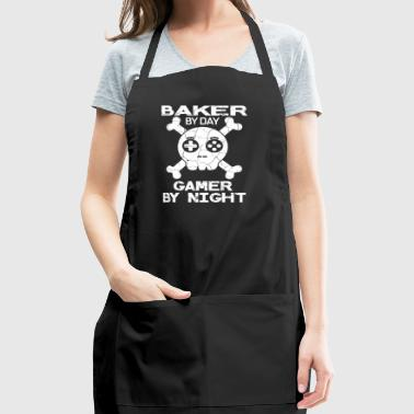 Baker By Day Gamer By Night Gift - Adjustable Apron