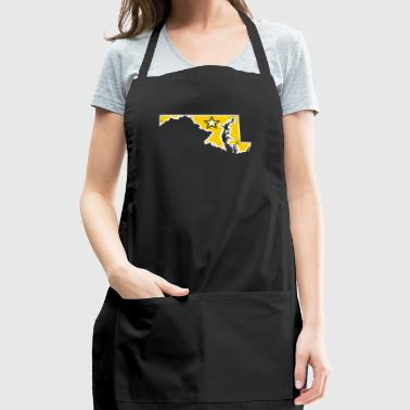 Maryland Army T Shirt Proud Army Dad Proud Army Mom Shirt - Adjustable Apron