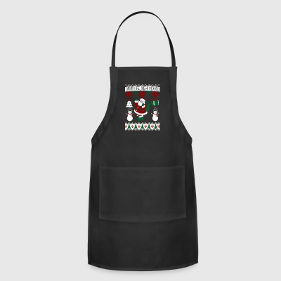 Christmas Ugly Sweater Santa Fe New Mexico - Adjustable Apron