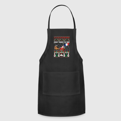 French Through The Snow Ugly Christmas Sweater - Adjustable Apron