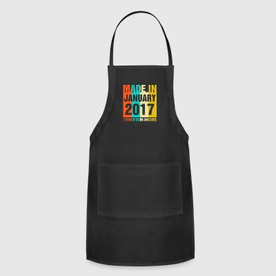 Retro January 2017 1 Year Of Being Awesome - Adjustable Apron