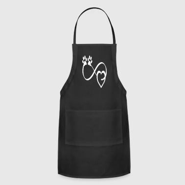 Dog Lover Infinite Love Infinity Symbol - Adjustable Apron