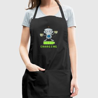 Coffee lovers charging funny - Adjustable Apron