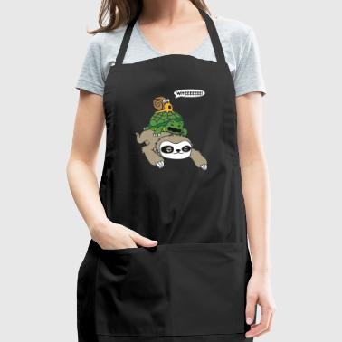Sloth Turtle and Snail Piggyback - Adjustable Apron