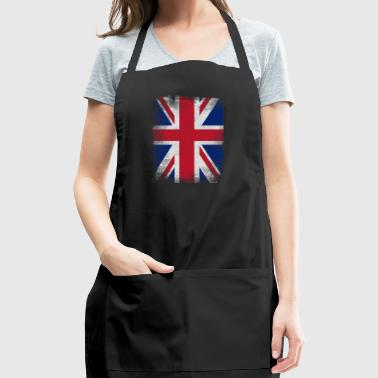 United Kingdom Flag Proud British Vintage Distress - Adjustable Apron