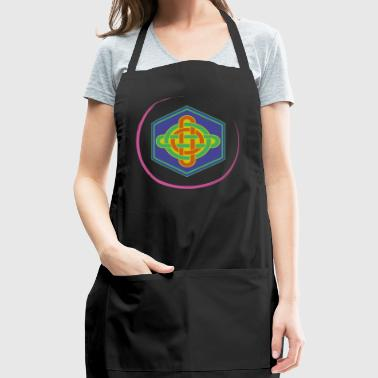 celtic knot crazy colour - Adjustable Apron