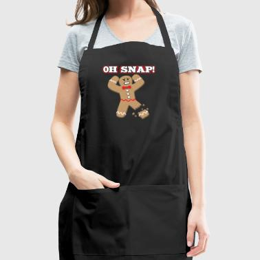 Gingerbread man: Oh Snap! Xmas Bakery Gift - Adjustable Apron