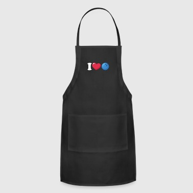 I Heart Love Bowling - Adjustable Apron