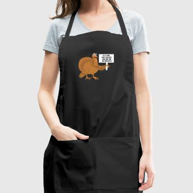 Love me for my breasts gift for Thanksgiving Lover - Adjustable Apron