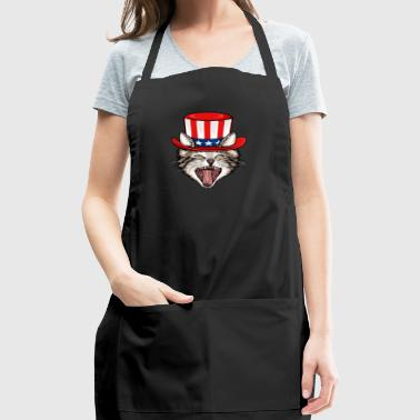 Cat Lover 4th Of July - Adjustable Apron