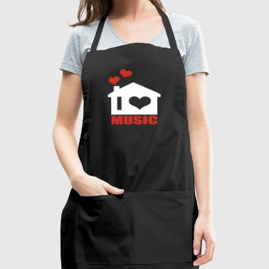 i love music - Adjustable Apron