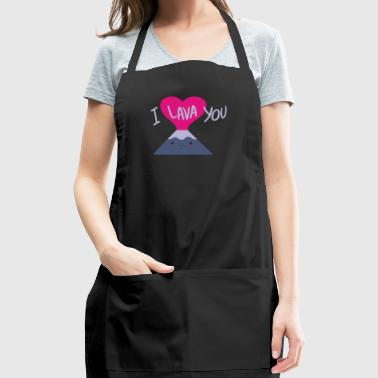 Cool I Lava You Valentine s Day - Adjustable Apron