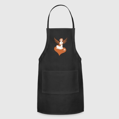 Valentine Angel with Heart - Adjustable Apron