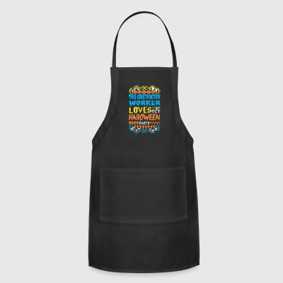 This Construction Worker Loves 31st Oct Halloween - Adjustable Apron