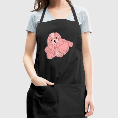 Soft Pink Puppy - Adjustable Apron