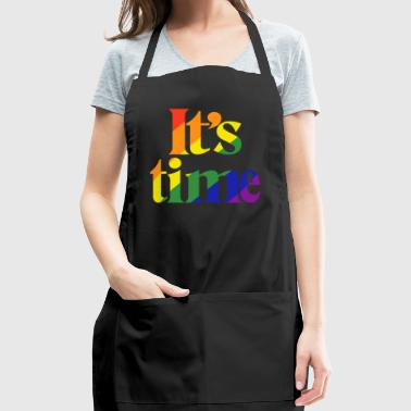 It's Time - For Same Sex Marriage - Adjustable Apron