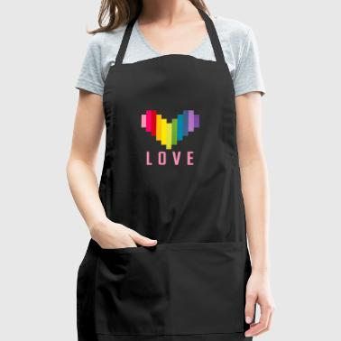 love pink graphic - Adjustable Apron