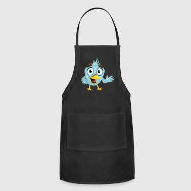 bird bird beak charming eyes looking blue fed - Adjustable Apron