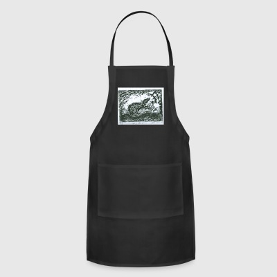 The Rat woodcut print - Adjustable Apron