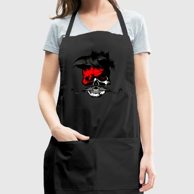 skull hipster punk mustache mustache flash - Adjustable Apron