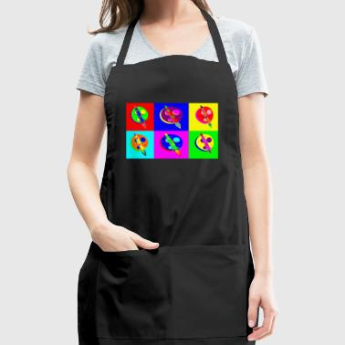 Rocket Moon Pop Art - Adjustable Apron