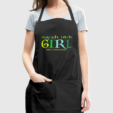 March 18th Girl - 100% Natural - Adjustable Apron