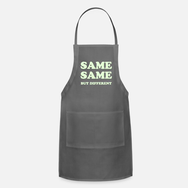 Asian Aprons - SAME SAME BUT DIFFERENT - Apron charcoal