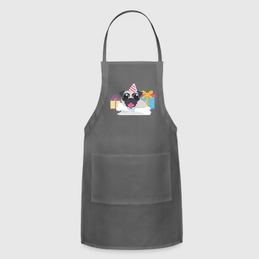 Funny pug at birthday party - Adjustable Apron