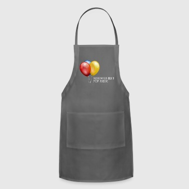 Pop Music Balloons Hate Pop Music - Adjustable Apron