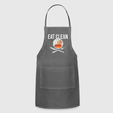 Clean What It Is Eat Clean Smiley Health - Adjustable Apron