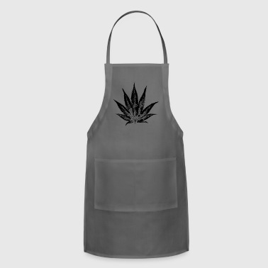 Cannabis leaf weed ganja smoking smoke weed - Adjustable Apron