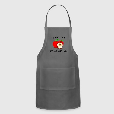 I Need My Daily Apple Black - Adjustable Apron