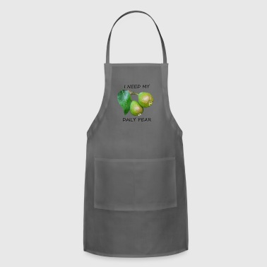 I Need My Daily Pear Black - Adjustable Apron
