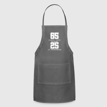 Sixty Five is Only 25 in Scrabble - Funny Scrabble - Adjustable Apron