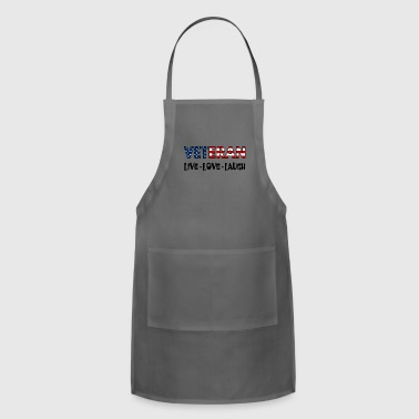 Schland Live Love Laugh Veteran U.S. Flag - Adjustable Apron