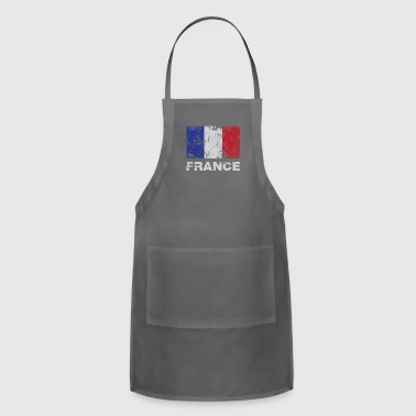 Distressed Flag Of France French Republic Pride - Adjustable Apron