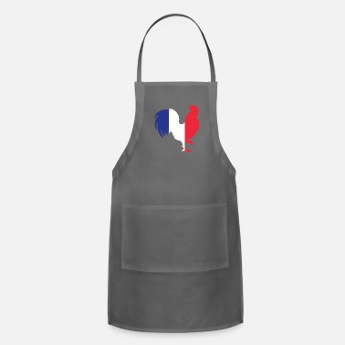 French Flag France Gallic Rooster In French Flag Color French - Adjustable Apron