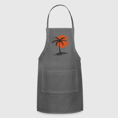 sunset with tree of palm - Adjustable Apron