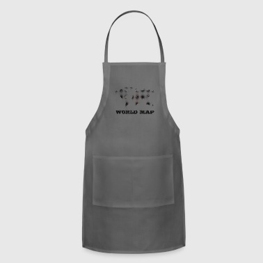 WORLD MAP - Adjustable Apron