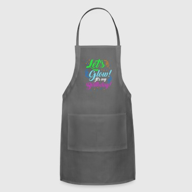 Let's Glow It's My Birthday Glowing Effect Glow - Adjustable Apron