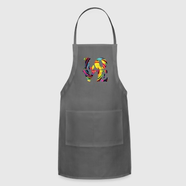 LOVE RAINBOW LETTERS 1 - Adjustable Apron