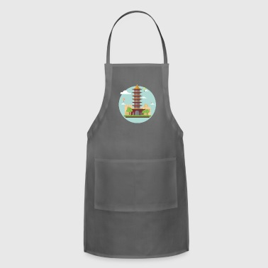 asian tower - Adjustable Apron