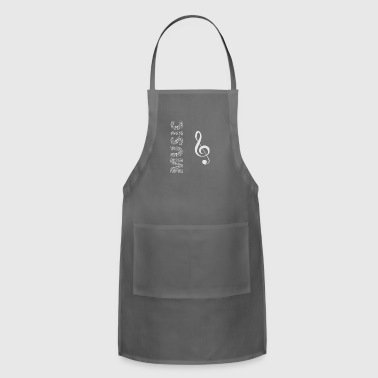 Music with Musical symbols - cool - Adjustable Apron