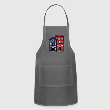 Building Buildings Red and Blue - Adjustable Apron