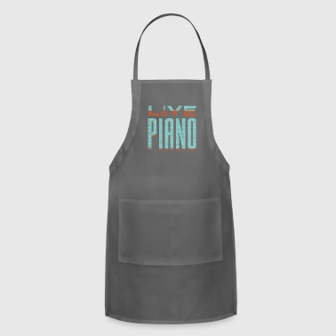 Love Piano fun gift idea for pianists and musician - Adjustable Apron