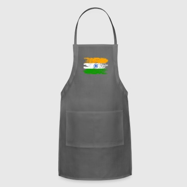 India Shirt Gift Country Flag Patriotic Travel Asia Light - Adjustable Apron