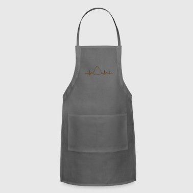 crap poop poops gift gift idea heartbeat - Adjustable Apron