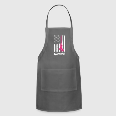 Warrior Breast Cancer Awareness Ribbon Pink Flag - Adjustable Apron